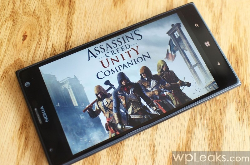 Assasin's Creed Unity Companion app from the Windows Phone Store