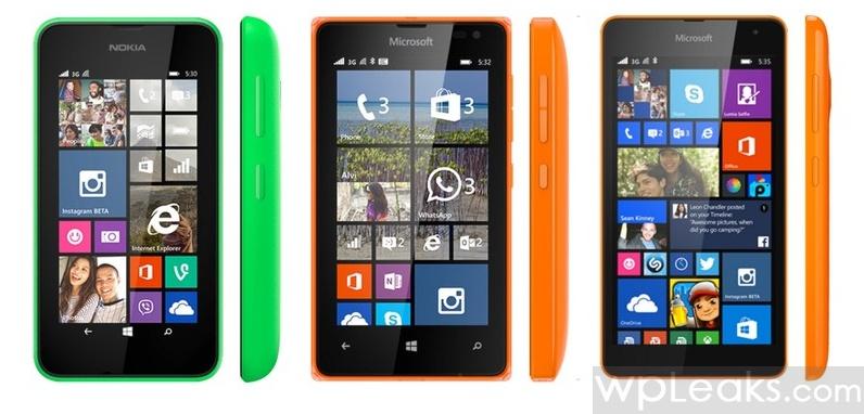 Lumia-530-vs-Lumia 532-vs-Lumia-535