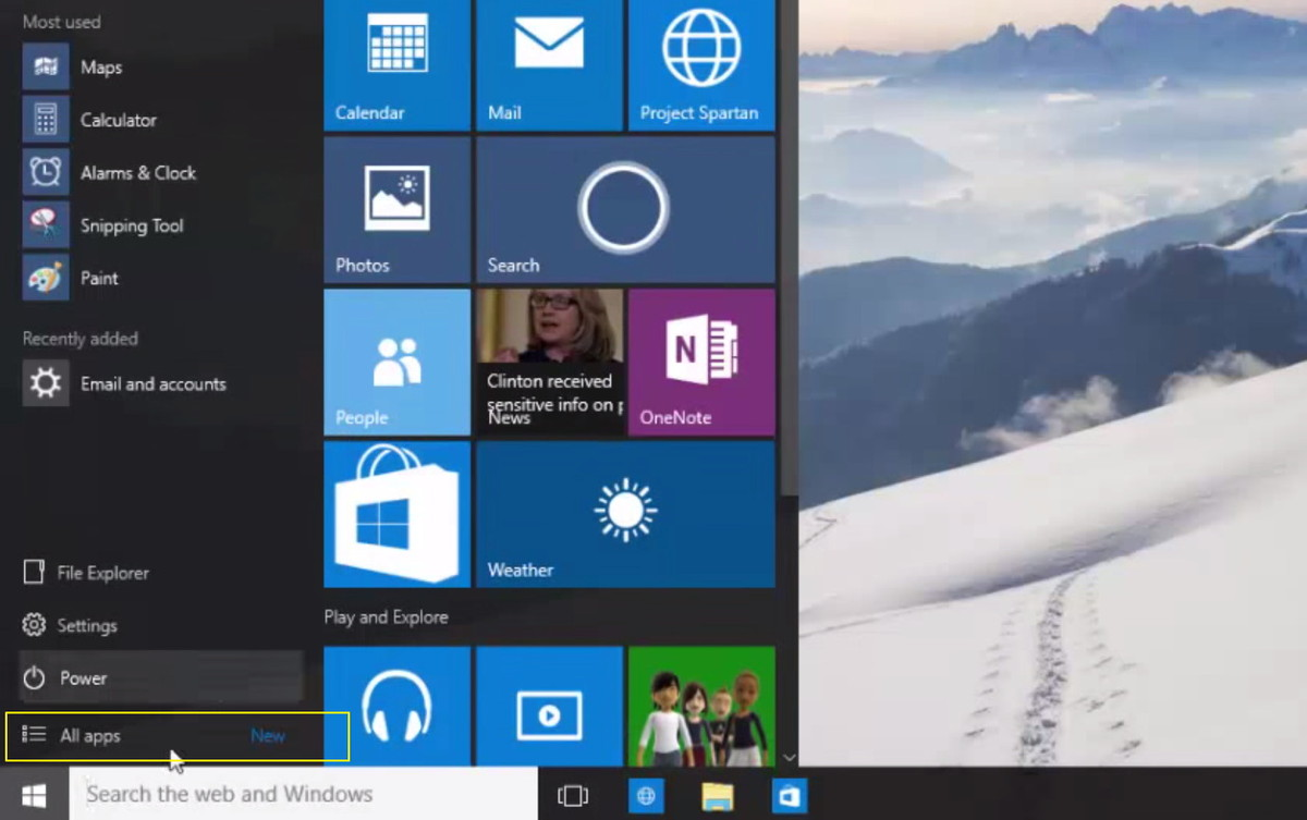 all-apps-new-label-windows-10