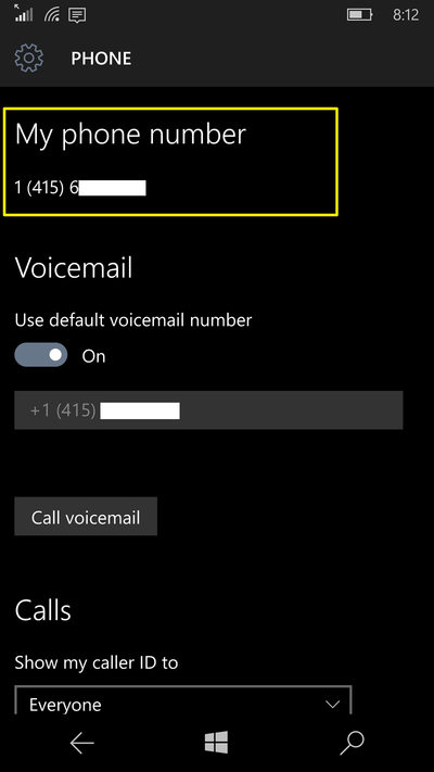 find-phone-number-windows-10-mobile