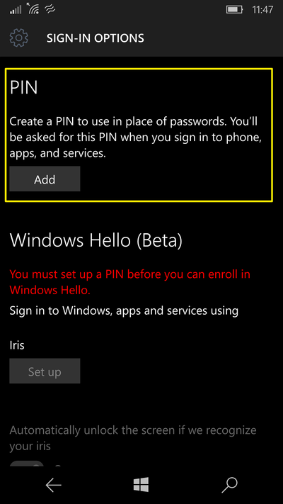 pin-password-windows-10-mobile