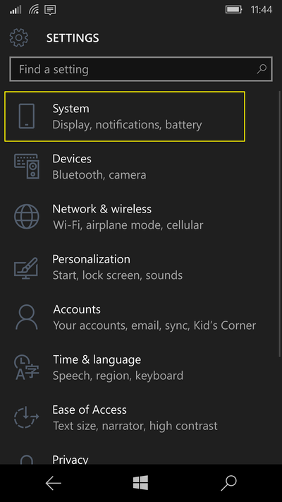 settings-main-windows-10-mobile