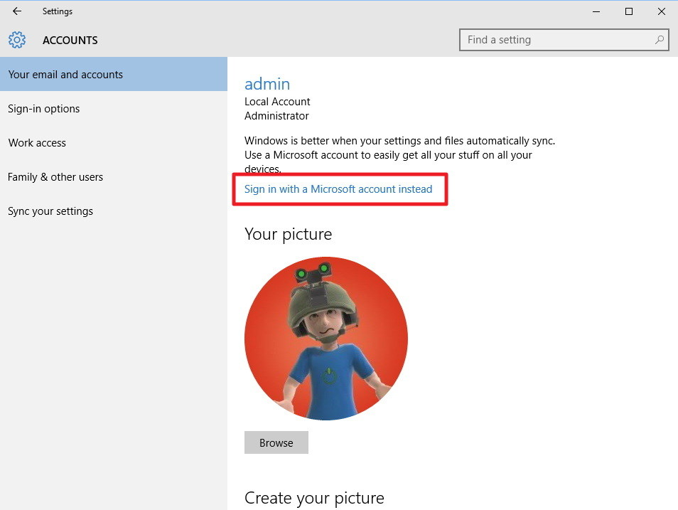 sign-microsoft-acount-instaad