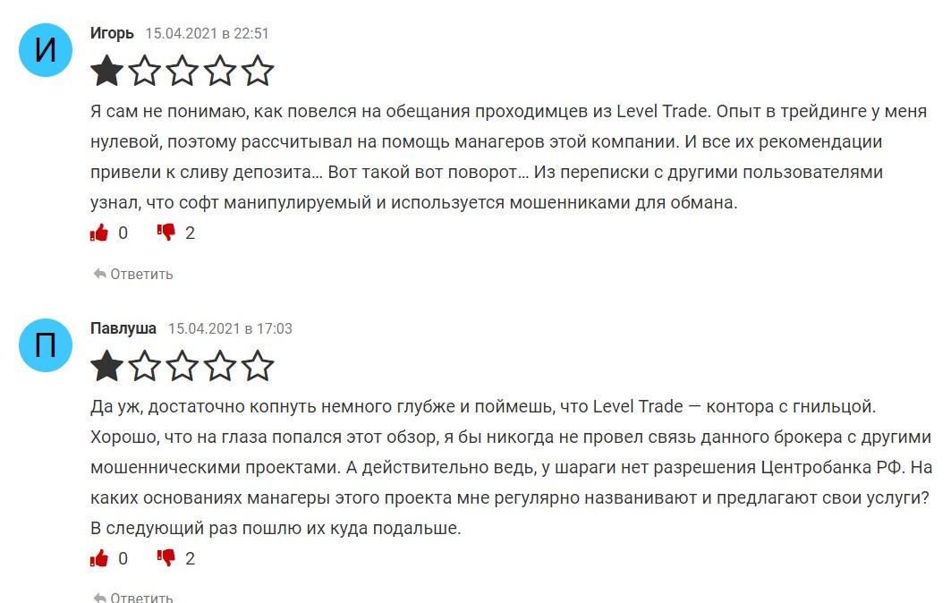 leveltrade.io отзывы